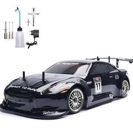 1/10 4WD 2.4G ニトロ 2速ドリフト RC HSP racingラジコン 色選択可 ブラック ブルー【領収発行可】