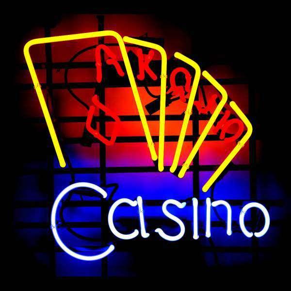 期間限定お試し価格 新品 安心価格 ネオン菅 ゲーセン カジノ 爆売りセール開催中 ネオンサイン アメリカン雑貨 F40 ポーカー プラザ カード トランプ アミューズメント