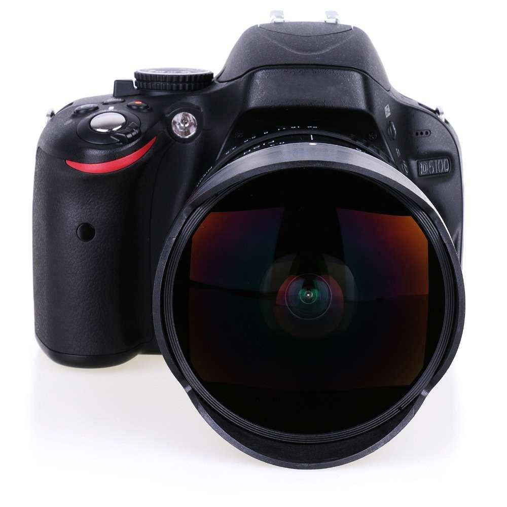 8mm F 3.5 Ultra 交換無料 Wide 角度 Fisheye Lens Nikon D5500 D3100 カメラ D5200 D700 DSLR 領収発行可 国産品 D3200