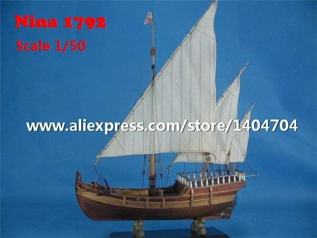 C1970 メーカー公式 イタリア 帆船 コロンブス 遠征 フリートニーナ 1792 1 贈呈 木製 キット 船 模型 プラモデル ボート 50スケール 組み立て式