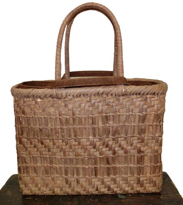 山形県産 山ぶどう透かし編みアジロミックス(内袋付き)・中サイズ 現品販売