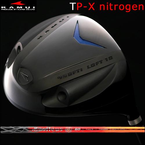 【Kamui/カムイ】TP-X NITROGEN (窒素ガス封入) Typhoon Pro DRIVER窒素ガスタイプ/フェースマーク赤ドライバーBasileus  Leggero2(バシレウス レジーロ2)カーボンシャフト