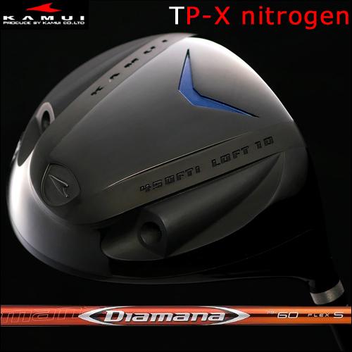 【Kamui/カムイ】TP-X NITROGEN (窒素ガス封入) Typhoon Pro DRIVER窒素ガス+発泡タイプ/フェースマーク「銀」ドライバーDiamana RF(ディアマナ RF)カーボンシャフト