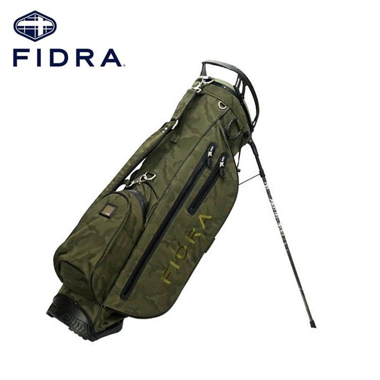 【FIDRA/フィドラ】 FD51NC61軽量 カモ柄スタンドキャディバッグ