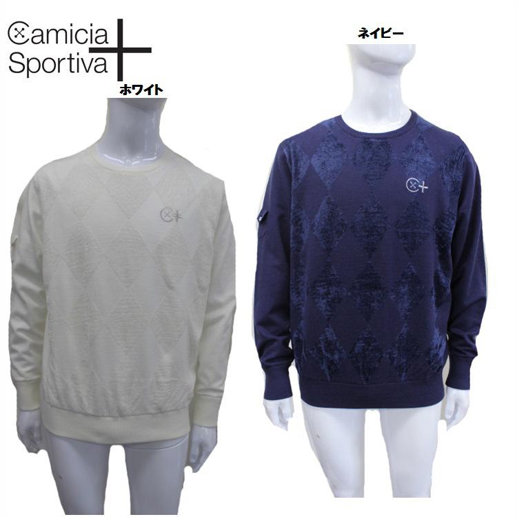 【Camicia Sportiva/カミーチャスポルティーバプラス】51-1182010コンビアーガイル クルーネックニット
