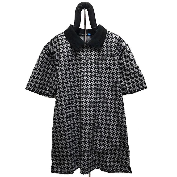 正規激安 お買い得 リンドバーグポロシャツ 50%OFF J.LINDEBERG 081-23341千鳥格子半そでポロシャツ46 M J.リンドバーグ