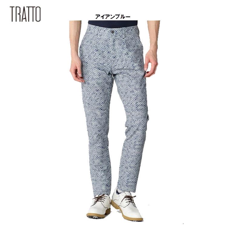 【TRATTO/トラット】31-7181411ビスコテックタイルプリント テーパード1Pleat パンツ