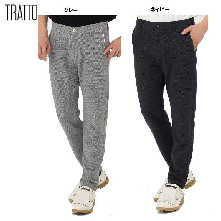 【TRATTO/トラット】31-7181213シードチェックジャガード テーパードイージー パンツ