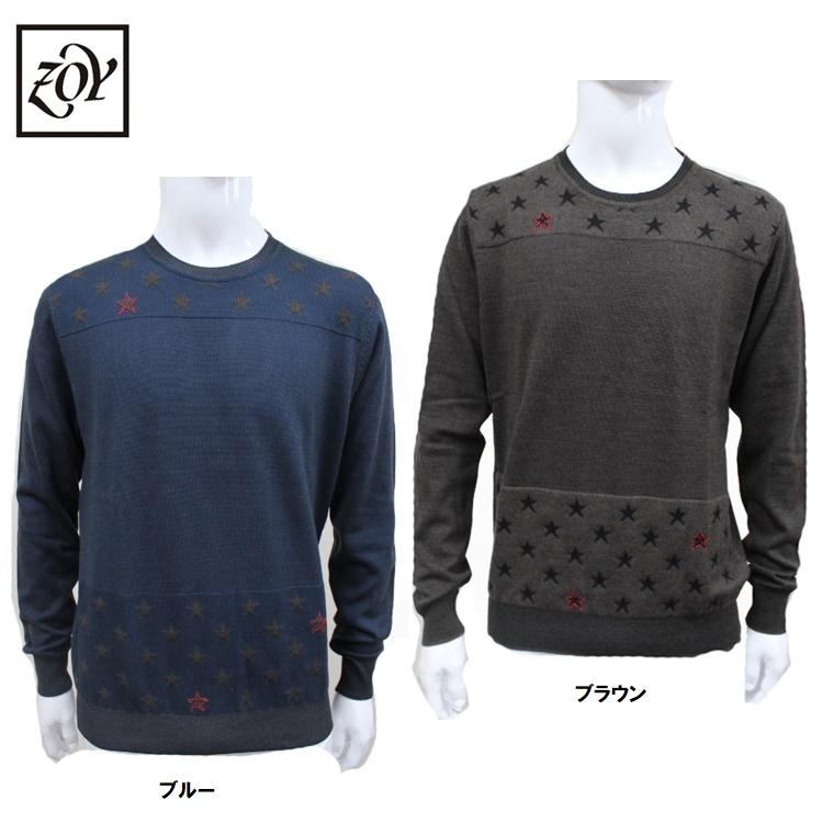 【ZOY/ゾーイ】【BOB ボブ コラボ】メンズ ニットセーター072792712イタリア製