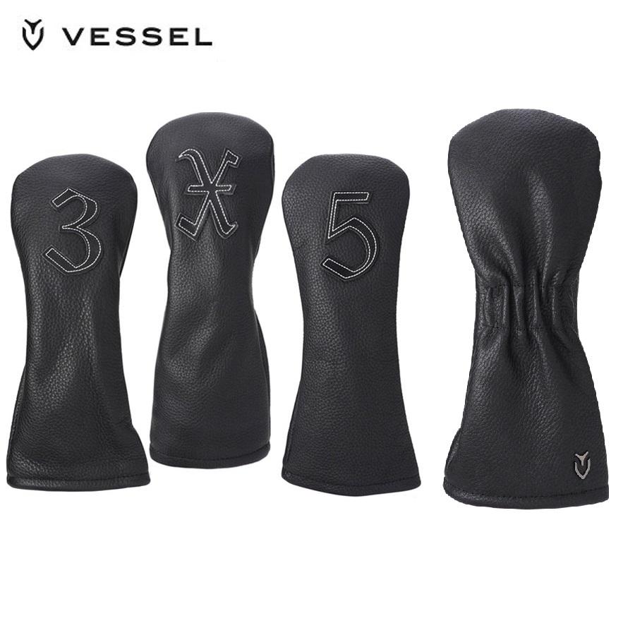 ヴェゼルレザーヘッドカバー VESSEL ヴェゼル ブラックブラックHC3117-02 現品 フェアウェイウッド用ヘッドカバーレザーVESSEL ランキング総合1位 ベゼル