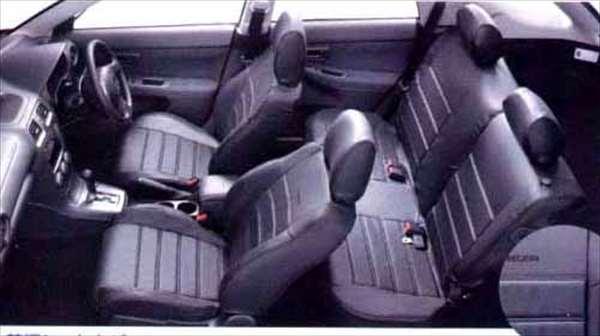 『インプレッサ』 純正 GG2 GG3 GD2 GD3 本革調シートカバー(ブラック)WRX パーツ スバル純正部品 座席カバー 汚れ シート保護 impreza オプション アクセサリー 用品