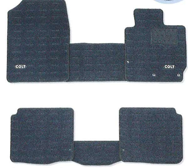 『コルト』 純正 Z21 Z22 Z23 Z24 フロアマット(クール) パーツ 三菱純正部品 フロアカーペット カーマット カーペットマット COLT オプション アクセサリー 用品