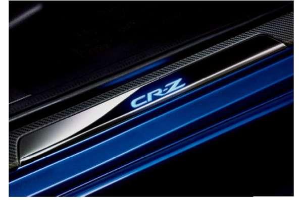 『CR-Z』 純正 ZF2 LEDサイドステップガーニッシュ(ブルー照明(CR-Zロゴ/ドア開閉連動)/左右セット パーツ ホンダ純正部品 ステップ 保護 プレート オプション アクセサリー 用品