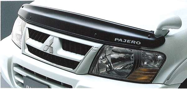 『パジェロ』 純正 V77 V73 V63 エンジンフードプロテクター パーツ 三菱純正部品 PAJERO オプション アクセサリー 用品
