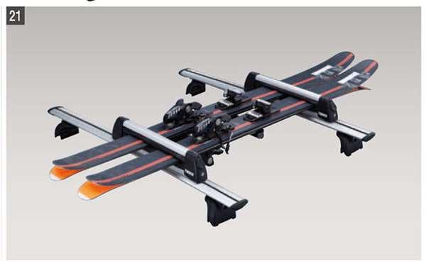 『CX-8』 純正 KG2P スキー/スノーボードアタッチメント(THULE製・Bタイプ) パーツ マツダ純正部品 キャリア別売りキャリア別売り オプション アクセサリー 用品
