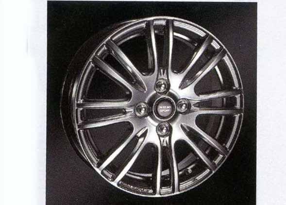 『スペーシア』 純正 MK32S アルミホイール(15インチ)ハイパーシルバー 1本に付き パーツ スズキ純正部品 spacia オプション アクセサリー 用品