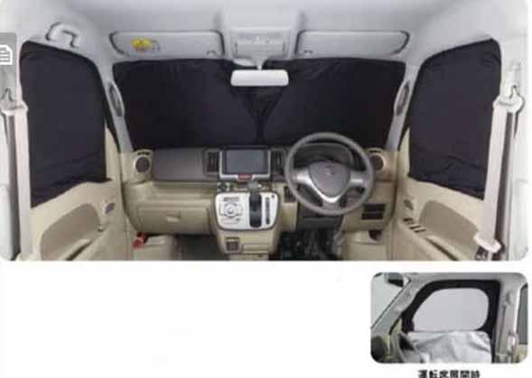 『エブリイワゴン』 純正 DA17W フロントプライバシーシェード パーツ スズキ純正部品 日除け サンシェード 遮光 every オプション アクセサリー 用品