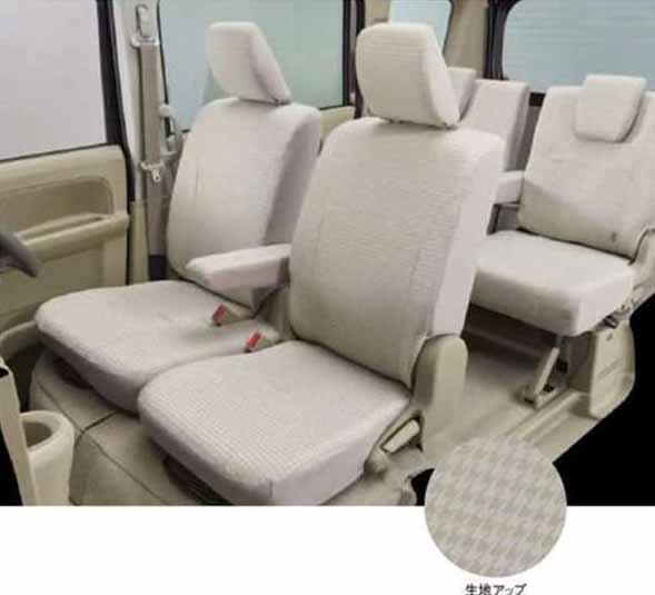 『エブリイワゴン』 純正 DA17W シートカバー 千鳥格子 1台分(フロント・リヤ) パーツ スズキ純正部品 座席カバー 汚れ シート保護 every オプション アクセサリー 用品