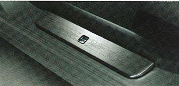『coo』 純正 M401 スカッフプレートカバー(ステンレス) パーツ ダイハツ純正部品 ステップ 保護 プレート オプション アクセサリー 用品