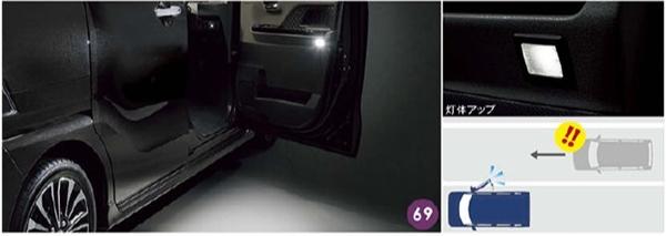 『タント』 純正 la650s la660s エントリー&セーフティライト パーツ ダイハツ純正部品 オプション アクセサリー 用品