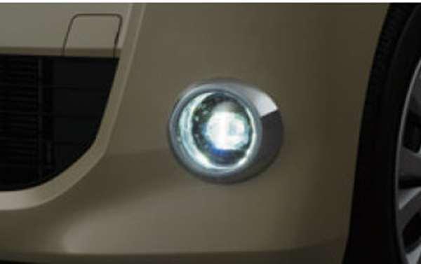 『ルークス』 純正 sm21 LEDフォグランプ白色発光メッキフィニッシャーフォグスイッチセット パーツ 日産純正部品 フォグライト 補助灯 霧灯 オプション アクセサリー 用品