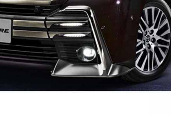 『ヴェルファイア』 純正 GGH30W LEDスタイリッシュビーム フロントガーニッシュ用 パーツ トヨタ純正部品 エアロパーツ パネル カスタム照明 明かり ライト vellfire オプション アクセサリー 用品