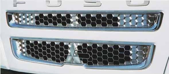 スーパーグレート パーツ メッキフロントグリル 三菱ふそう純正部品 FU54VZ~ オプション アクセサリー 用品 純正 メッキ 送料無料