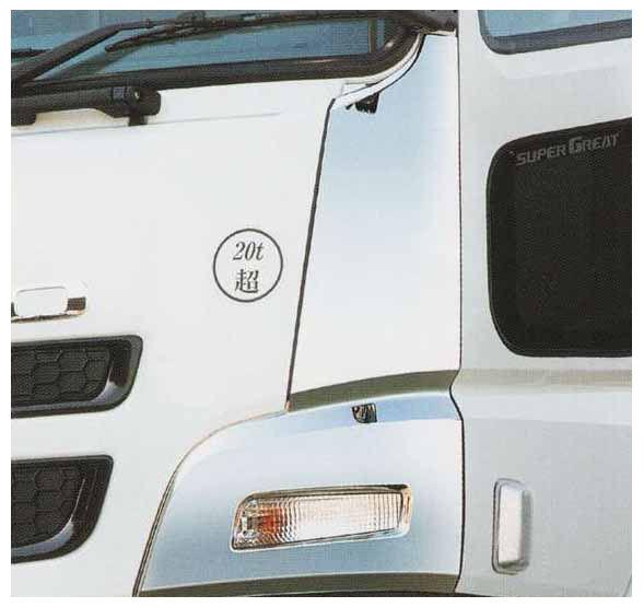 スーパーグレート パーツ メッキコーナーパネル 三菱ふそう純正部品 FU54VZ~ オプション アクセサリー 用品 純正 メッキ 送料無料