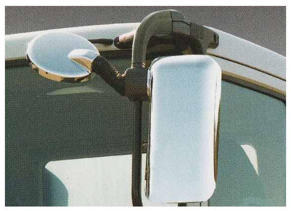 供supaguretopatsumekkimirakaba使用的修理品的LH一侧下面镜子覆盖物三菱扶桑纯正零部件FU54VZ~可选择的配饰用品纯正镀金