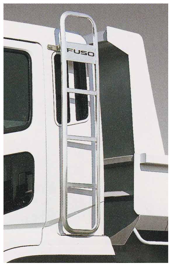 スーパーグレート パーツ 固定式キャブタラップ(アルミ製) 左側の標準ルーフ車用 三菱ふそう純正部品 FU54VZ~ オプション アクセサリー 用品 純正