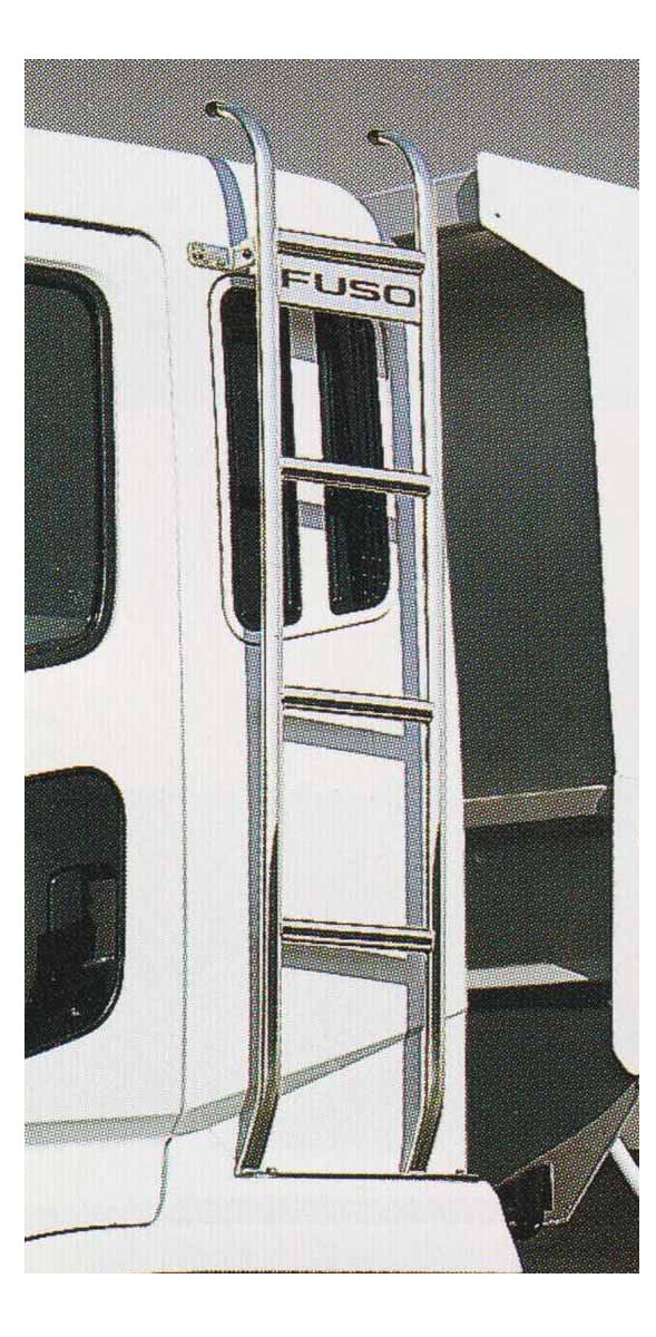 スーパーグレート パーツ 固定式キャブタラップ(スチール製メッキ) 右側の標準ルーフ車用 三菱ふそう純正部品 FU54VZ~ オプション アクセサリー 用品 純正 メッキ