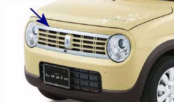 『ラパン』 純正 HE33S フロントグリル ※フロントカメラ有車用 パーツ スズキ純正部品 飾り カスタム エアロ lapin オプション アクセサリー 用品