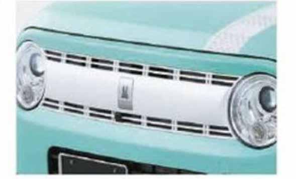 『ラパン』 純正 HE33S フロントグリル スペリアホワイト パーツ スズキ純正部品 飾り カスタム エアロ lapin オプション アクセサリー 用品