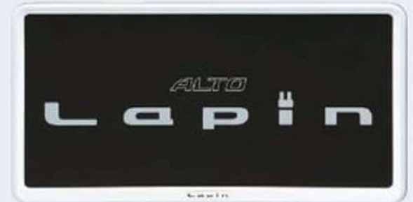 『ラパン』 純正 HE33S ナンバープレートリム スペリアホワイト ※1枚より パーツ スズキ純正部品 ナンバーフレーム ナンバーリム ナンバー枠 lapin オプション アクセサリー 用品
