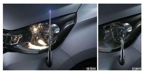 『ekワゴン』 純正 B11W コーナーポール(手動伸縮式) パーツ 三菱純正部品 フェンダーポール フェンダーライト 障害物 オプション アクセサリー 用品