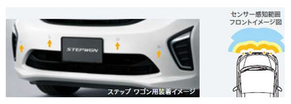 『ステップワゴン』 純正 RP1 フロントセンサー(4センサー)ステップワゴン スパーダ用 本体のみ ※取付アタッチメントは別売 パーツ ホンダ純正部品 コーナーセンサー STEPWGN オプション アクセサリー 用品