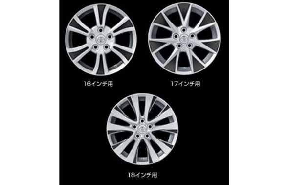 『ヴェルファイア』 純正 GGH20 ANH20 GGH25 アルミデカールキット 18インチ用 パーツ トヨタ純正部品 ステッカー シール ワンポイント vellfire オプション アクセサリー 用品