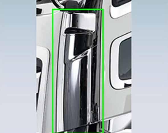 『ギガ』 純正 2PG-CYL77C-VX-~ メッキコーナーパネル 左 パーツ いすゞ純正部品 メッキ カスタム ドレスアップ オプション アクセサリー 用品