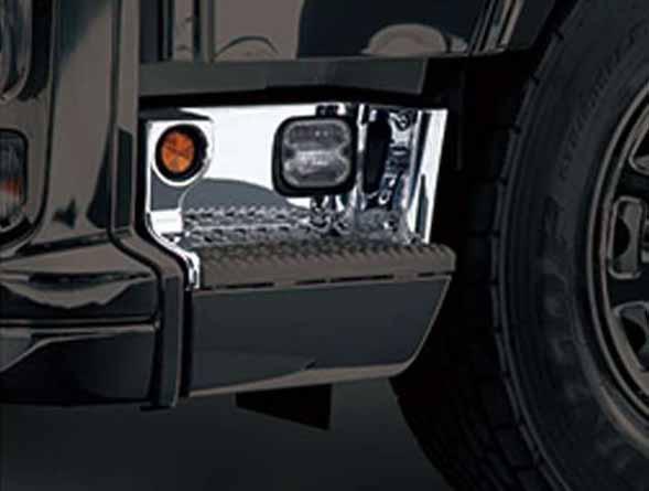 『ギガ』 純正 2PG-CYL77C-VX-~ メッキステップパネルカバーセット パーツ いすゞ純正部品 オプション アクセサリー 用品