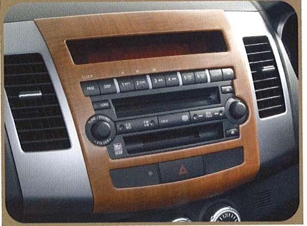 『アウトランダー』 純正 CW5W 木目調アクセントパネルセット パネル一体型オーディオ装着車 パーツ 三菱純正部品 インテリアパネル 内装パネル outlander オプション アクセサリー 用品