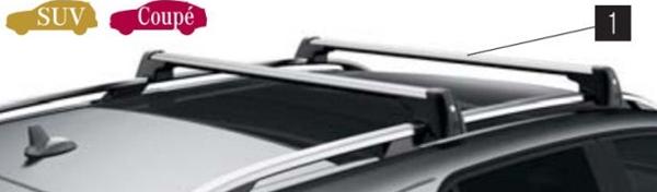 『GLE』 純正 LDA CBA ベーシックキャリア SUV用 パーツ ベンツ純正部品 オプション アクセサリー 用品