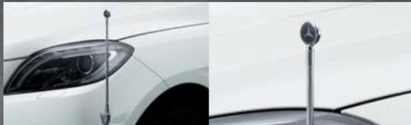 『GLE』 純正 LDA CBA 固定式コーナーポール パーツ ベンツ純正部品 フェンダーポール フェンダーライト 障害物 オプション アクセサリー 用品