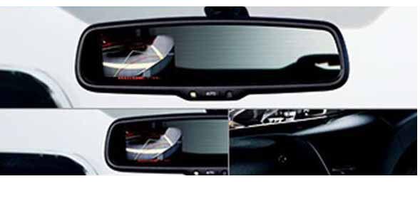 『ハリアー』 純正 AVU65W コーナービューカメラ&モニタ用の モニターのみ ※本体とベゼルが別売りです パーツ トヨタ純正部品 ルームミラー モニーター 安全 harrier オプション アクセサリー 用品