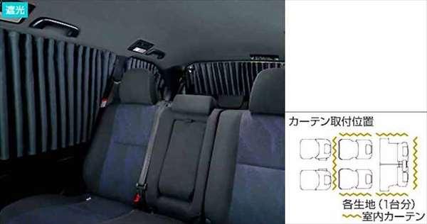 『エスティマハイブリッド』 純正 GFXZB GFXVB GFXPB GFXSB GRXSB 室内カーテン/ドレープタイプ(遮光) パーツ トヨタ純正部品 目隠し 日除け スモーク estima オプション アクセサリー 用品
