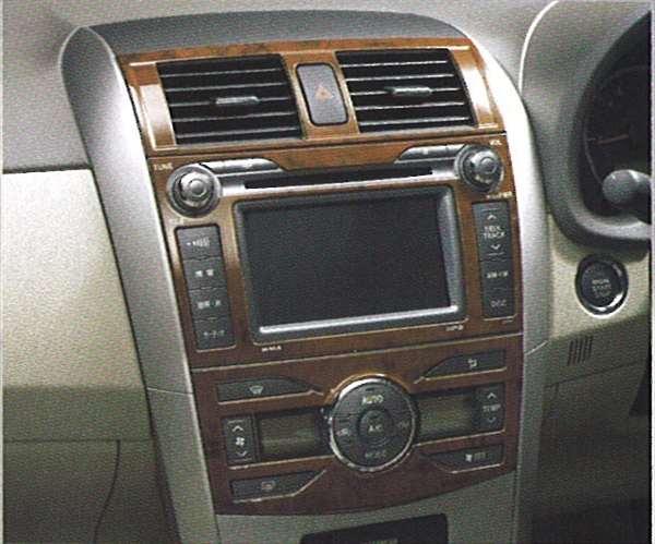 『カローラアクシオ』 純正 ZRE142 NZE141 ウッド調パネル パーツ トヨタ純正部品 axio オプション アクセサリー 用品