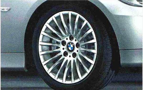 3 COUPE 全品最安値に挑戦 CABRIOLET パーツ ラジアルスポーク 保証 スタイリング187のホイール単体 8J×17 フロント リヤ ※セットではありません KG35 アクセサリー DX35 純正 オプション 用品 BMW純正部品 KD20 KE25 送料無料