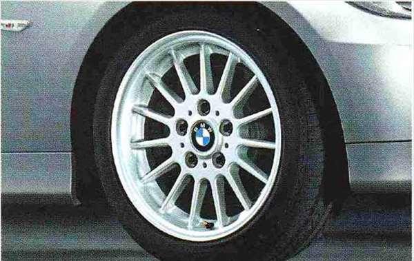3 COUPE・CABRIOLET パーツ ラジアルスポーク・スタイリング32のホイール単体 8J×17(フロント/リヤ) ※セットではありません BMW純正部品 KE25 KD20 KE25 KG35 DX35 オプション アクセサリー 用品 純正 送料無料