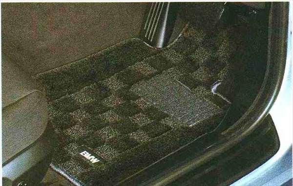"3 COUPE・CABRIOLET パーツ フロア・マット・セット""シャギー"" ブラックのクーペ用 BMW純正部品 KE25 KD20 KE25 KG35 DX35 オプション アクセサリー 用品 純正 マット"