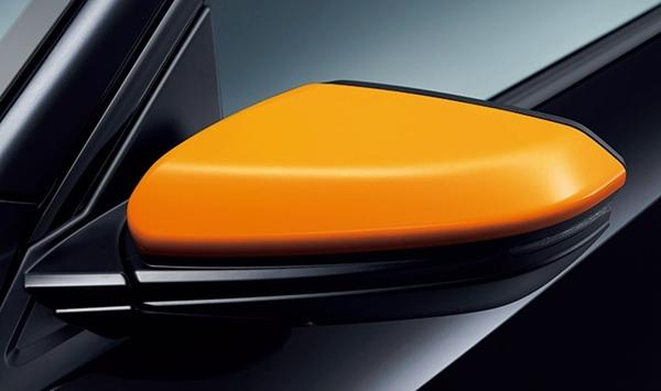 『シビック』 純正 FK7 FC1 ドアミラーカバー(オレンジ/左右セット)Excite Sporty for HATCHBACK パーツ ホンダ純正部品 サイドミラーカバー カスタム オプション アクセサリー 用品