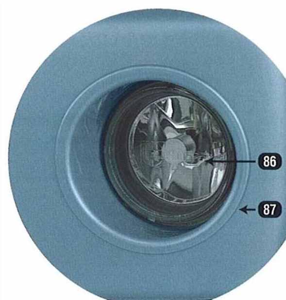 『ラパン』 純正 HE21 フォグランプ(シビエ製) パーツ スズキ純正部品 フォグライト 補助灯 霧灯 lapin オプション アクセサリー 用品